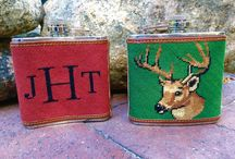 Needlepoint Flasks / Beautifully made needlepoint flasks by Needlepaint and our customers!
