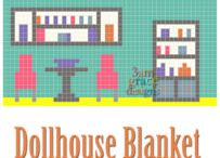 3AMGRACEDESIGNS | Dollhouse C2C Blanket CAL / FREE Corner to Corner (C2C) graphs to crochet a Dollhouse blanket. Includes two FREE patterns for both a boy and girl doll to play with blanket!