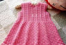 vestido crochê e trico