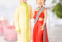 indian bride groom cake toppers