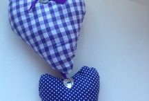 Hanging Hearts by Claire / Lavender filled hearts.  Hang in wardrobe for pretty smell or in any room