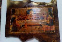 εικόνες Αγίων / εικονες Αγιων με τεχνικη ντεκουπαζ σε ξυλο ελιας