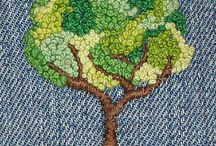 EMBROIDERED TREES
