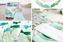 Minty & peach wedding ideas