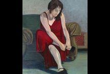 The Making of Art / Art in progress by Gladys Jimenez.