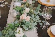 Tuscan style wedding florals