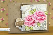 cards stippled blossoms