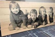 Foto op hout gel medium