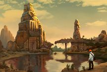 Lost Civilizations Contest / Ancient cultures, bygone empires and forgotten peoples have inspired myth, legend and incredible artwork throughout the ages. Indiana Jones, Angkor Wat, the lost cities of Atlantis and El Dorado speak of adventure, discovery and secrets of the ancients that draw our collective unconscious to grasp at the deepest mysteries of man.   Contest in partnership with Syn Studios, Wacom, & ArtStation.