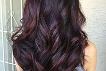 Auburn Rose Brown Dark Burgundy Hair Balayage