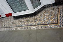 Encaustic Tiled Swansea / Paths, entrances, and anywhere else that encaustic tiles have been laid and can be seen from the pavement