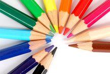 Materiais de arte / Lápis, borracha, tinta, giz, etc. Não sou dona dessas imagens