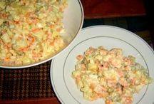 Saláty bramborové, zeleninové