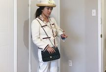 Old Chanel Inspo Look / I styled my mom for this old Chanel Inspo look! Featuring the classic French Twill Jacket, pearl vintage accessories and the classic Chanel bag. Hope you enjoy!