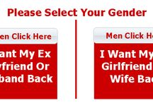 Get My Ex Back / Many relationships face one problem or another, ranging from separation/split of lovers to separation/divorce in marriages. Loved ones are lost sometimes because of infidelity. Attempt is made here to offer solutions to the different problems