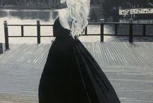Portait oil painting.Artist Juliya Kotenko / Artist Julia Kotenko