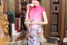 Brocade Cheongsam Qipao Chinese Dress / Brocade Cheongsam Qipao Chinese Dress