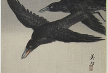 Caw, caw.....Crows in Japanese Art. / A selection of crows.