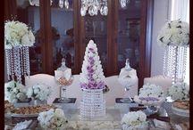 Elegant wedding sweets table