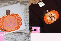 Embroidery Halloween/Thanksgiving/Fall designs -  Embroidery and Applique / by Peggy Aull