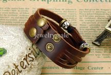 leather cuffs / embellished cuffs make a personal statement for men and women.