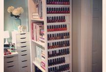 Nail polish storage
