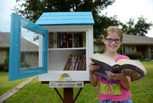 """Little Free Libraries / Libros Libres / The Little Free Library project advocates the creation of hand-crafted miniature neighborhood libraries.  They are free and operate under the guiding principle of """"take a book, leave a book"""". The Dallas Public Library, bcWORKSHOP, and Big Thought are making them pop up all over Dallas, Texas!  Find one near you! http://goo.gl/maps/meIR1"""