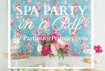 Pamper / Bridal shower ideas