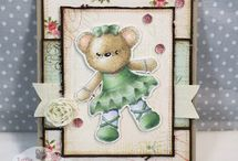 Little Miss Muffet Stamps Cards