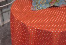 Tischdecken abwaschbar / Abwaschbare Tischdecken gefertigt mit Briefecken - robust und dekorativ zugleich