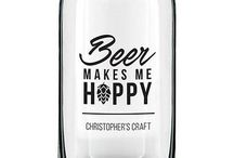 Personalized Beer Can Glasses