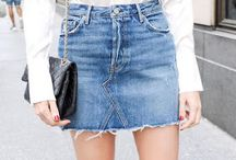 Denimskirt refashion