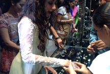 Chitrangada at the Times Glamour Exhibition / Clad in a cream anarkali suit,Bollywooddiva Chitrangada Singhinauguratedthe GlamourJewellery exhibition held in India's entertainment capital, Mumbai.  Take a look at her visiting the Gehna stand, trying jewellery and praising the collection.