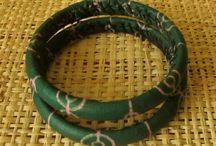 African bracelets (wood + cotton)