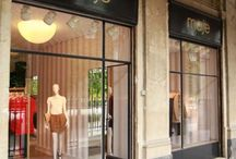 Interiors. Shops