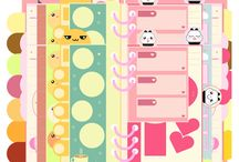 Journal/Planner/Printable Design / #journal #planner #design #cute #kawaii #illustration #stasionery #bookmark