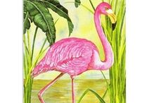 Fabulous Flamingos / A thoughtfully curated selection of our favorite Mary B Decorative Art flamingo-themed pieces of home decor as well as flamingo-themed gifts. What's not to love?