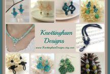 Beautiful Macrame Jewelry!  Knottingham Designs / www;KnottinghamDesigns.etsy.com The finer side of macrame!