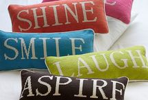 Pillows for bedroom / Cushions for on bed