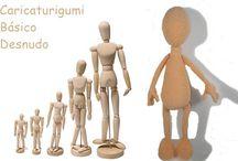 amigurumi con muñeco de madera