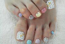 Hearts, stripes & polka dot nails