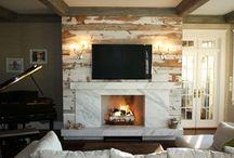 Old Barn Wood Fireplace / Refurbished and Renewed