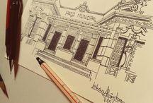 Desenhando um pouquinho / Meus Croquis