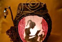 Magic Shadow Lanterns / my artwork on candle lanterns...
