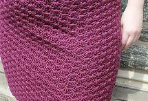 skirt knit crochet / skirt knit crochet