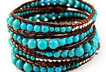 Pulseras cuero y piedras / Pulseras de cuero con piedras naturales elegidas para ti, dale a tu look un estilo diferente BOHO!!