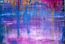 Colours / My colour paintings want to express my sensations, feelings, love and happiness.