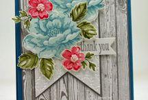 Card making - S.U. Mixed Bunch, Flower Shoppe, Petite Petals, Fabulous Florets, Stippled Blossoms