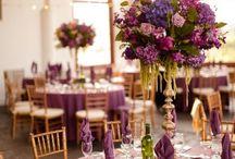 Mariage pourpre-gold romantique (portes ouvertes)