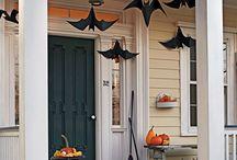 Halloween herfst pompoenen